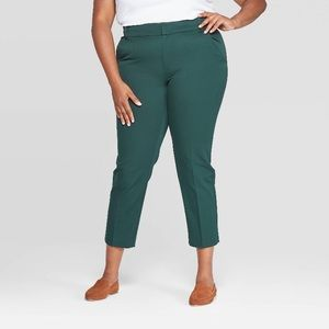 Green ankle pants